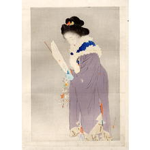 鏑木清方: New Year Eve — 春を待つ - Japanese Art Open Database