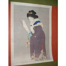 Kaburagi Kiyokata: New Year Eve — 春を待つ - Japanese Art Open Database