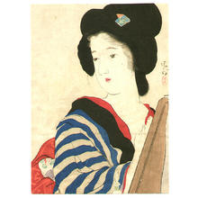 鏑木清方: Red Nail Polish - Japanese Art Open Database