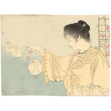 Kaburagi Kiyokata: White Swans — 白鳥 - Japanese Art Open Database