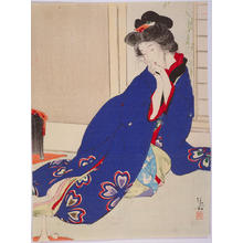 Kaburagi Kiyokata: Woman by a Window — 窓辺の女 - Japanese Art Open Database