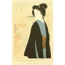 Kaburagi Kiyokata: Hamamachi Bank in Autumn - Japanese Art Open Database