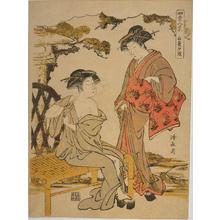 鳥居清長: Evening Glow in Late Summer — 長夏夕照 - Japanese Art Open Database