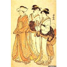 Torii Kiyonaga: Three Courtesans and their Attendant - Japanese Art Open Database