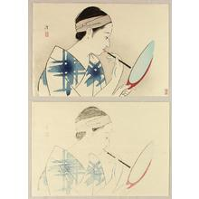 Kiyoshi Kobayakawa: Girl Applying Make-Up - Japanese Art Open Database