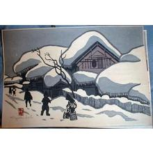 Kiyoshi Saito: Unknown, snow scene - Japanese Art Open Database