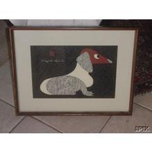 Kiyoshi Saito: Dog, Dachshund 2 - Japanese Art Open Database