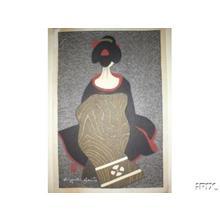 Kiyoshi Saito: Unknown, Woman with back turned - Japanese Art Open Database
