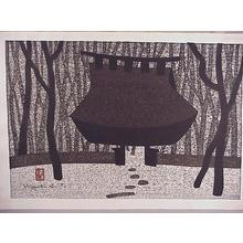 Kiyoshi Saito: Unknown, temple shrine - Japanese Art Open Database