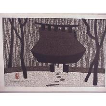 Kiyoshi Saito: Unknown, temple shrine - Japanese Art Open Database