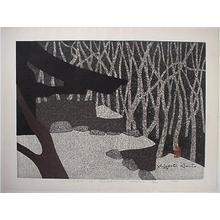 Kiyoshi Saito: Winter in Sanzen-in, Kyoto - Japanese Art Open Database