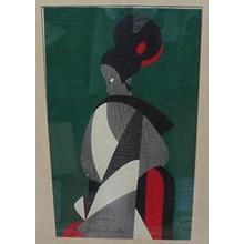 Kiyoshi Saito: Woman - Bunraku 1 - Japanese Art Open Database