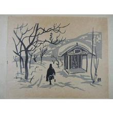 Kiyoshi Saito: Winter in Aizu — 会津の冬 - Japanese Art Open Database