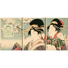 小林清親: Two Bijin in Spring - Japanese Art Open Database