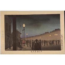 小林清親: A Summer Evening at Asakusa Kuramae — 浅草蔵前夏夜 - Japanese Art Open Database
