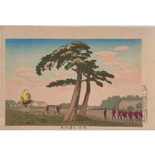 小林清親: Benkeibori Field at Sakurada — 桜田弁慶堀原 - Japanese Art Open Database
