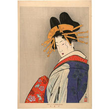 Kobayashi Kiyochika: Bust portrait of an Oiran in a splendid coiffure - Japanese Art Open Database