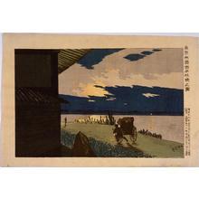 小林清親: Dawn at Ryogoku Hyappongui, Tokyo — 東京両国百本抗暁の図 - Japanese Art Open Database