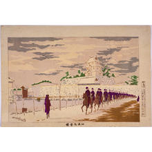 Kobayashi Kiyochika: Fine Weather after Snowfall at the Old Inner Keep of Edo Castle — 旧本丸雪晴 - Japanese Art Open Database