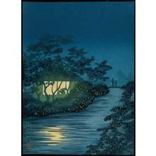 小林清親: Fireflies at Kinu River at Tennoji - Japanese Art Open Database