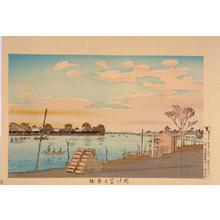 小林清親: Fujimi Ferry across the Sumida River — 大川冨士見渡 - Japanese Art Open Database
