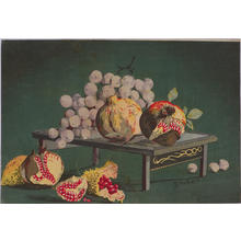 Kobayashi Kiyochika: Grapes and Pomegranates — ざくろにぶどう - Japanese Art Open Database