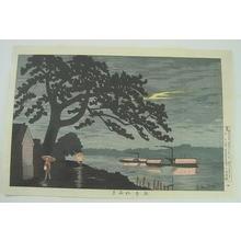Kobayashi Kiyochika: Moon through Rain at Gohan Matsu — 五本松雨月 - Japanese Art Open Database