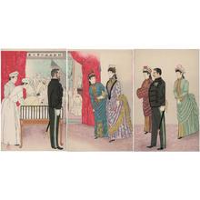 小林清親: Picture of the highest visit in the field hospital - Japanese Art Open Database