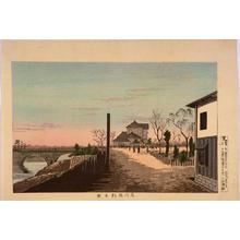 小林清親: Riders at Kudan — 九段馬かけ - Japanese Art Open Database