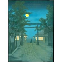 小林清親: Shrine Visit at Night - Japanese Art Open Database