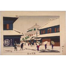 小林清親: Snow at Surugacho — 駿賀町雪 - Japanese Art Open Database