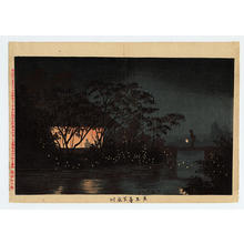 Kobayashi Kiyochika: The Koromogawa River near Tennoji Temple — 天王寺下衣川 - Japanese Art Open Database