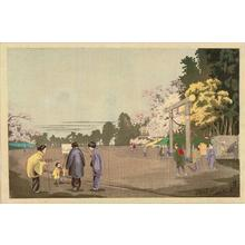 Kobayashi Kiyochika: A Painter Sketching at Ueno Park — 上野公園画家写生図 - Japanese Art Open Database