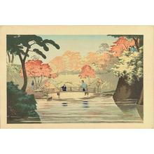 小林清親: The Bridge at Takinokawa Pond — 滝の川池の橋 - Japanese Art Open Database