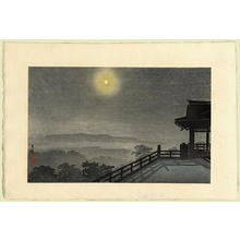 Kobayashi Kiyochika: Full Moon at Ishiyama Temple - Japanese Art Open Database