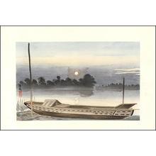 小林清親: Sunset on the Ayase River — 綾瀬川の夕・ Ayasegawa no Sekiyo - Japanese Art Open Database
