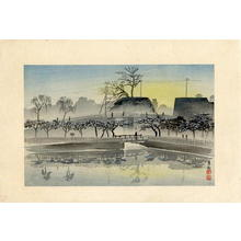 小林清親: Ushigome- the stillness of the Mitsuke quarter - Japanese Art Open Database