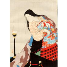 Kobori Tomoto: Heian Court Bijin and Armour - Japanese Art Open Database