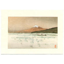月岡耕漁: Mt Fuji iand Lake - Japanese Art Open Database