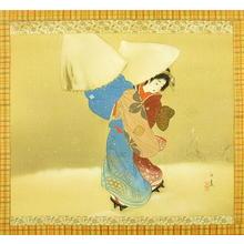 Koharu: Large Snowflakes — 牡丹雪 - Japanese Art Open Database