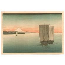 古峰: Sunset on Suruga bay- koban - Japanese Art Open Database