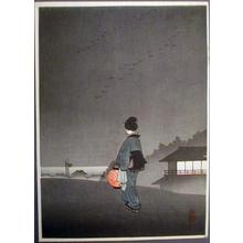 古峰: Untitled, Bijin, Night, Lantern - Japanese Art Open Database