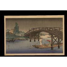 Koho: A Bridge in the Rainy Season - Japanese Art Open Database