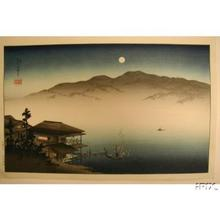 Koho: A Lakeside Inn Under Moonlight - Japanese Art Open Database