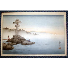 Koho: A Stone-Lantern on the Seashore - Japanese Art Open Database