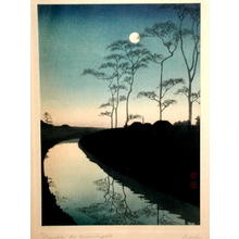 Koho: Canal by Moonlight - Japanese Art Open Database