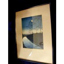 古峰: Canal by Moonlight - Japanese Art Open Database