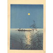 Koho: Fishboat on Moonlit Sea - Japanese Art Open Database