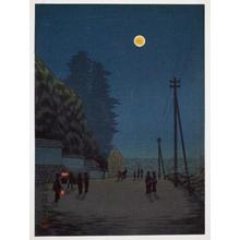 古峰: Night street scene - Japanese Art Open Database