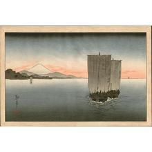 古峰: Sunset on Suruga bay - Japanese Art Open Database